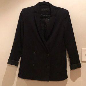 Black Zara Double Breasted Blazer